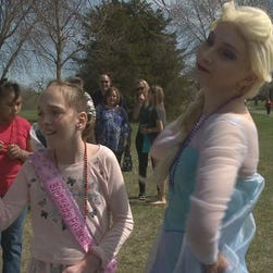 Mackenzie Moretter celebrates her 10th birthday with Elsa