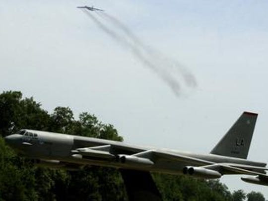 """Lt. Col. Steve """"Thirsty"""" Smith has logged a record 10,000 hours as a B-52 navigator."""