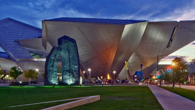 The Hamilton Building of the Denver Art Museum is covered in 9,000 titanium panels, meant to reflect the sunshine.