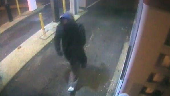 Wall police released this surveillance footage of the armed robbery suspect.