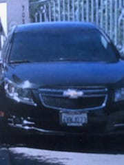This photo shows the stolen vehicle believed to be used by a burglary suspect Monday morning.