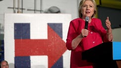 HATFIELD, PA - JULY 29: Democratic presidential nominee