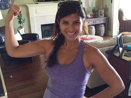 """Team Tina"" was formed shortly after Tina's cancer diagnosis. People ""flexed"" their muscles to show support for her."