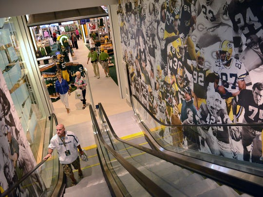 The new expanded Packers Pro Shop at Lambeau Field is more than twice as big as the previous store.