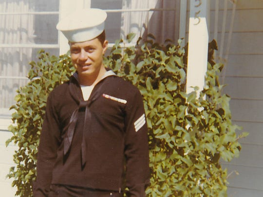 Earl Borges in 1967 before deploying for service on