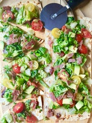 Quick and Healthy Italian Salad Pizza is a chopped
