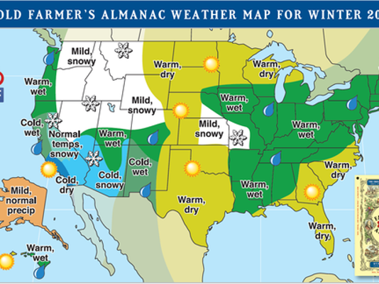 Farmer S Almanac The Prediction For 2018 Winter In Michigan