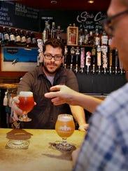 Ben Bourgeois, bartender at Stubby's Gastrogrub & Beer