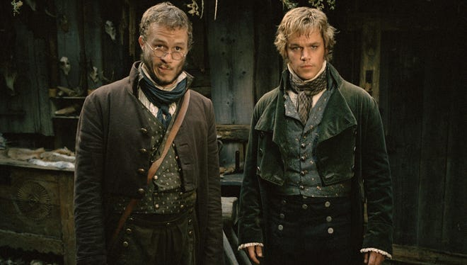 "Heath Ledger, left, and Matt Damon in ""The Brothers Grimm,"" Hollywood's take on the duo and their work, in 2003."