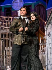 Austin Rowe as Gomez and Veronica Lindholm as Morticia
