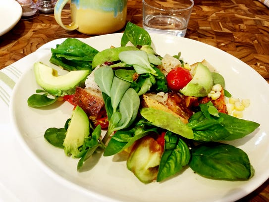 EiO and The Hive's tomato panzanella salad