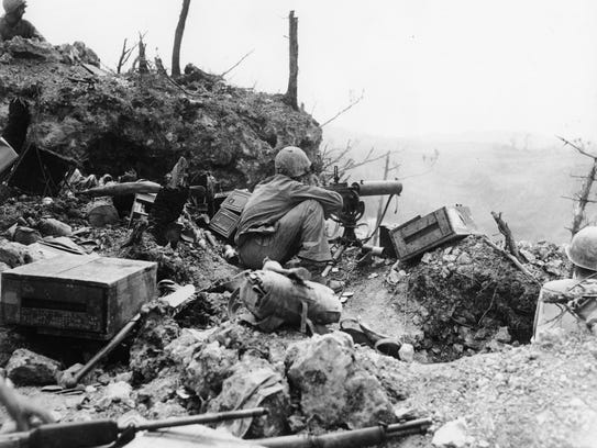 This undated photograph shows a U.S. Marine operating