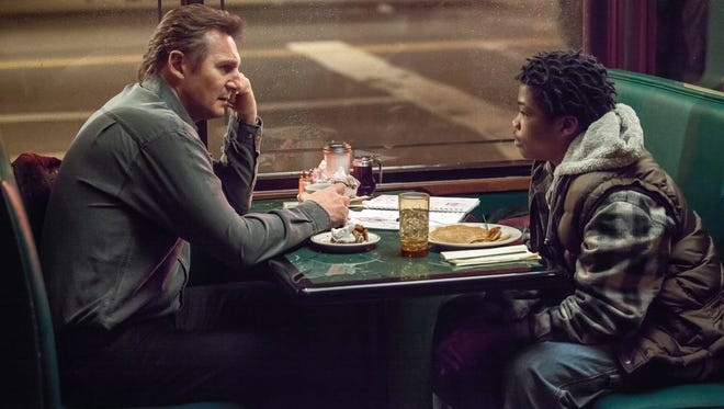 """Liam Neeson, left, stars in """"A Walk Among the Tombstones."""""""