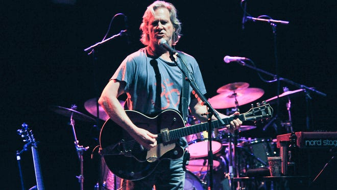 Jeff Bridges performs with his band The Abiders at the Lebowski Fest on Friday, April 25,  in Los Angeles.