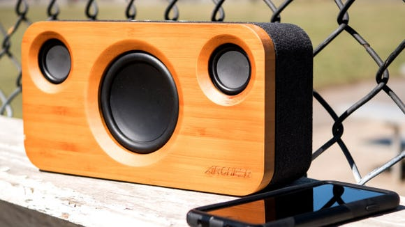 Bring the tunes wherever you go with this portable speaker.