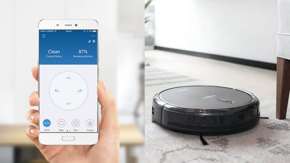 Ask this smart vacuum to tidy up with the touch of an app.