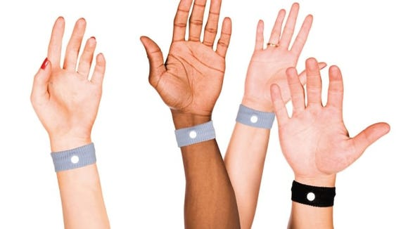Prevent motion sickness with these wrist bands.