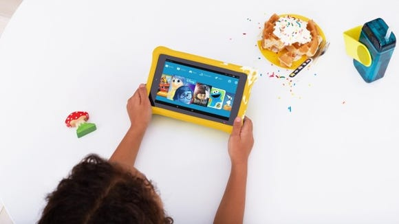 This kid-proof tablet is perfect for trips.