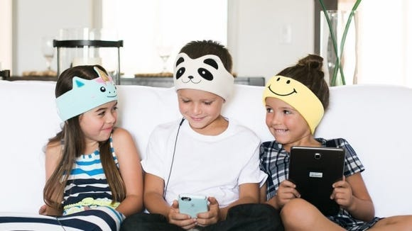 These cute headphones are designed specially for kids.