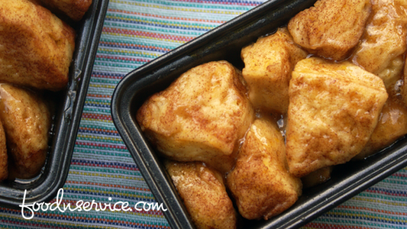 This monkey bread is made in miniature loaf pans.