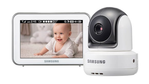 This Samsung baby monitor has the best range and video quality of any that we tested—no WiFi required.