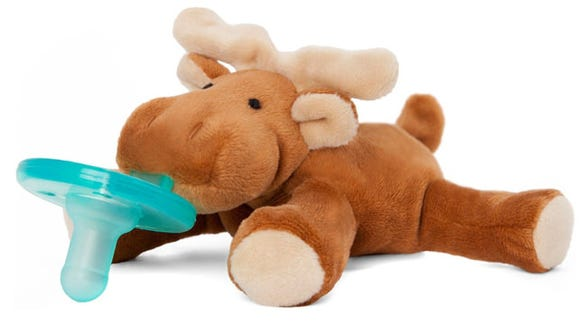 The WubbaNub pacifiers are pricey, but they really are a huge help.