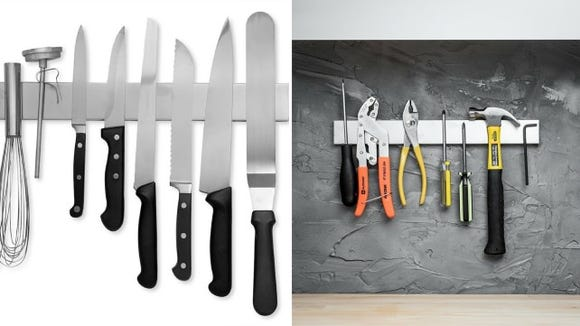 The most efficient way to put away your kitchen tools.