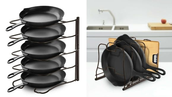 A genius alternative to a cupboard full of disorganized pans and lids.