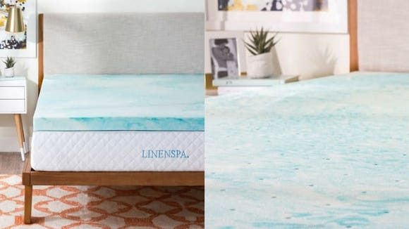 LinenSpa Memory Foam Mattress Topper