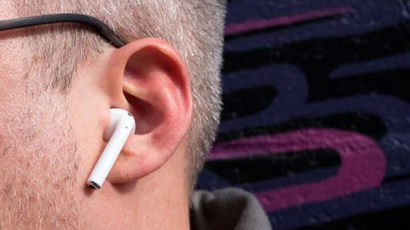 Apple's AirPods can help with hearing in noisy places.