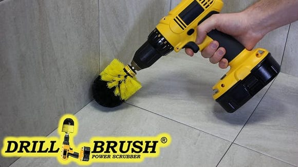 These brushes attach to your handheld power drill.