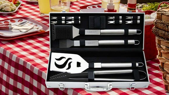 Cuisinart 14-Piece Deluxe Stainless-Steel Grill Set