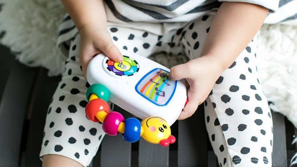 Little ones will love playing music with this fun toy.