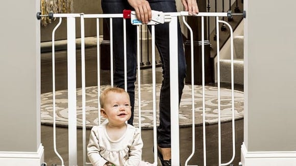 Keep little ones out of trouble with a sturdy baby gate.