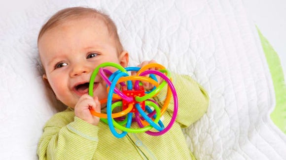 It's a rattle and teether in one!