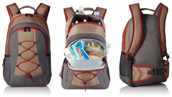 It looks like a regular backpack, but it's insulated to keep contents cool.