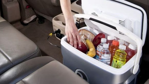 No ice necessary for this cooler—just plug it in!