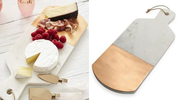 Marble and Copper Cheese Board