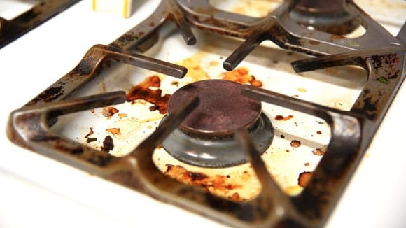 Dirty Stove Top
