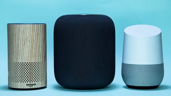 Amazon Echo, Apple HomePod, Google Home