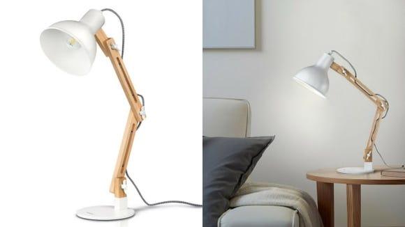 Wood Swing Arm Lamp