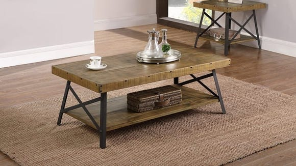 This rustic coffee table is simply stunning.