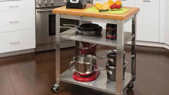 Seville Classics Stainless Steel Kitchen Cart