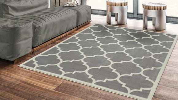This pretty rug is thick, soft, and affordable!