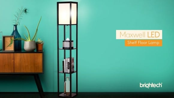 A lamp with shelves? So cool!