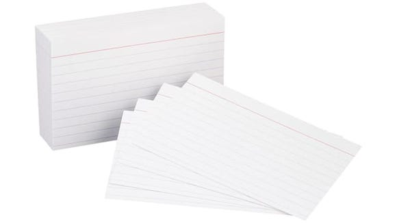 AmazonBasics Heavy Weight Ruled Index Cards