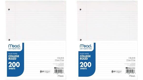 Mead Loose Leaf Paper