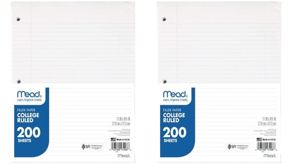 Mead Loose Leaf Paper