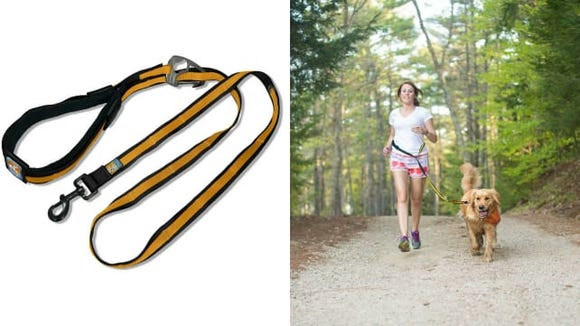 A leash so you can bring your favorite running buddy.