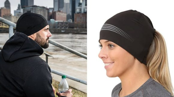 These hats were made for fall runs and bike rides.